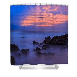 Blue Sunrise 1 Shower Curtain