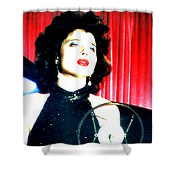 Shower Curtain featuring the painting Blue Velvet by Luis Ludzska