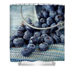 Blueberries Shower Curtain by Darren Fisher