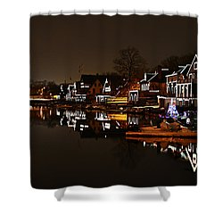 Boathouse Row Lights Shower Curtain by Bill Cannon