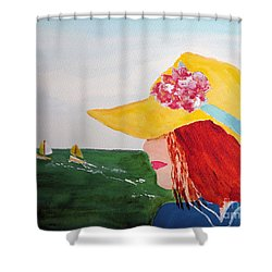Shower Curtain featuring the painting Boating by Sandy McIntire