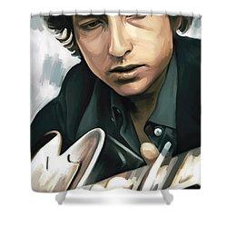 Bob Dylan Artwork Shower Curtain by Sheraz A