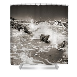 Bolonia Waves Shower Curtain by Guido Montanes Castillo