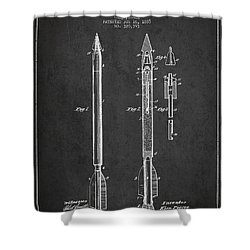 Bomb Lance Patent Drawing From 1885 Shower Curtain by Aged Pixel