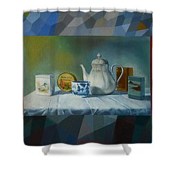 Bonbons Shower Curtain by Jukka Nopsanen