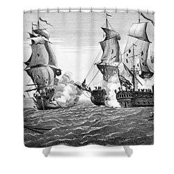 Bonhomme Richard, 1779 Shower Curtain by Granger