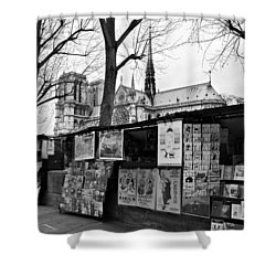 Shower Curtain featuring the photograph Book Sellers By The Seine / Paris by Barry O Carroll