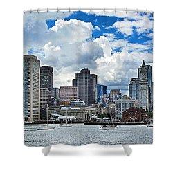 Boston Harbor Shower Curtain by Julia Springer