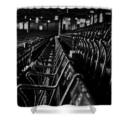 Bostons Fenway Park Baseball Vintage Seats Shower Curtain by Doc Braham