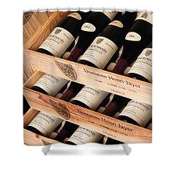 Bottles Of Vosne-romanee Premier Cru Cros Parantoux Shower Curtain by Anonymous