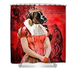 Boxer Art Canvas Print Shower Curtain