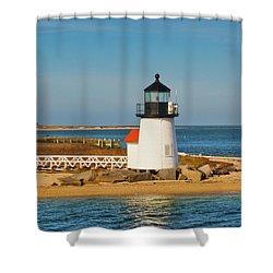 Brant Point Lighthouse Nantucket Shower Curtain