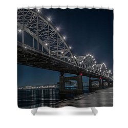 Bridge Lights Shower Curtain by Ray Congrove