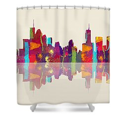 Brisbane Australia Skyline Shower Curtain