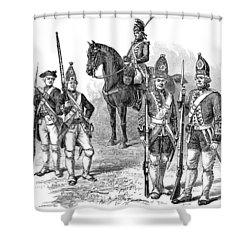 British & Hessian Soldiers Shower Curtain by Granger