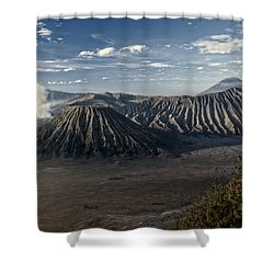 Bromo Mountain Shower Curtain by Miguel Winterpacht