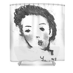 Bubble Gum Shower Curtain by Laurie L