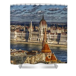 Buda Parliament  Shower Curtain