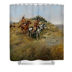 Buffalo Hunt Shower Curtain by Charles Marion Russell