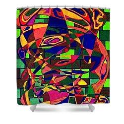 Shower Curtain featuring the painting Bulwark by Jonathon Hansen