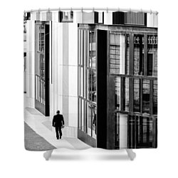 Business Man In Milan Shower Curtain
