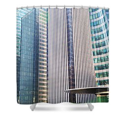 Business Skyscrapers Modern Architecture Shower Curtain by Michal Bednarek