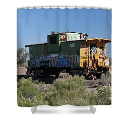 Caboose  Shower Curtain by Diane Greco-Lesser