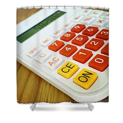 Calculator Shower Curtain by Les Cunliffe
