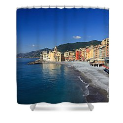 Shower Curtain featuring the photograph Camogli - Italy by Antonio Scarpi