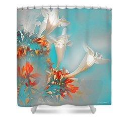 Campanillas Shower Curtain by Alfonso Garcia