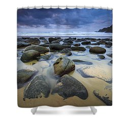 Campelo Beach Galicia Spain Shower Curtain
