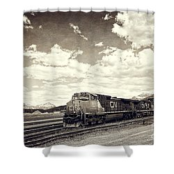 Canada Rail Shower Curtain