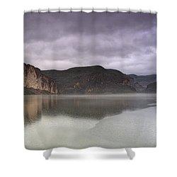 Canyon Lake  Shower Curtain by Saija  Lehtonen