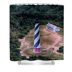 Cape Hatteras Lighthouse From Above Shower Curtain