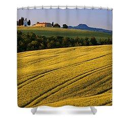Cappella Di Vitaleta Shower Curtain by Brian Jannsen