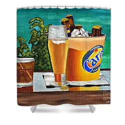 Caribbean Beer Shower Curtain