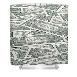 Shower Curtain featuring the photograph Carpet Of One Dollar Bills by Lee Avison