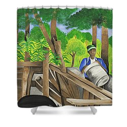 Carrying The Load Shower Curtain by Patricia Sabree