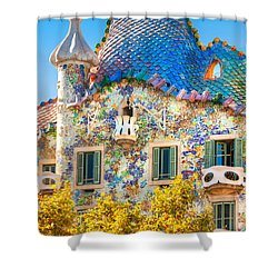 Casa Batllo - Barcelona Shower Curtain by Luciano Mortula