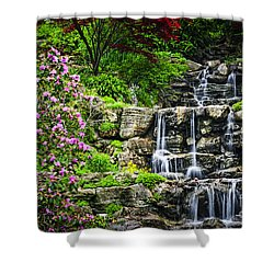 Cascading Waterfall Shower Curtain by Elena Elisseeva