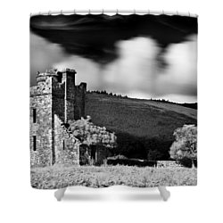 Shower Curtain featuring the photograph Castle Ruins / Ireland by Barry O Carroll