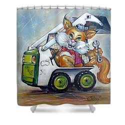 Cat C5x 190312 Shower Curtain by Selena Boron