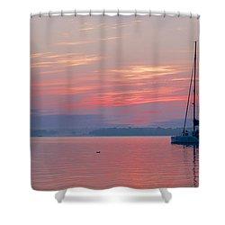 Catamaran At Dawn Shower Curtain