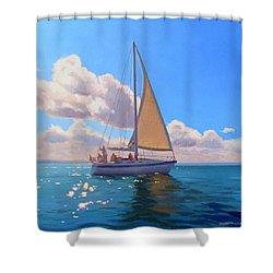 Catching The Wind Shower Curtain by Dianne Panarelli Miller