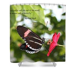 Caterpiller To A Butterfly Shower Curtain