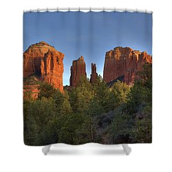 Shower Curtain featuring the photograph Cathedral Rocks In Sedona by Alan Vance Ley