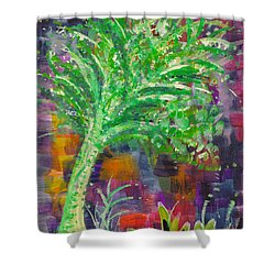 Shower Curtain featuring the painting Celery Tree by Holly Carmichael