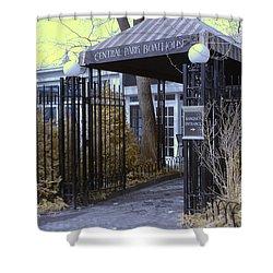 Central Park Boathouse Shower Curtain by Paul Ward