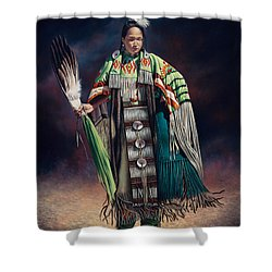 Ceremonial Rhythm Shower Curtain