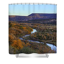 Chama River At Sunset Shower Curtain
